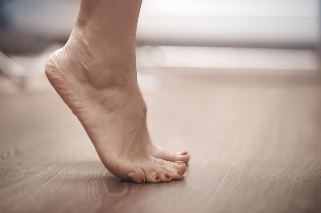 нога на носочке