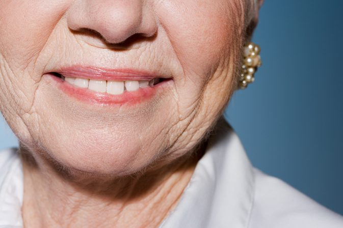 woman aged smiling