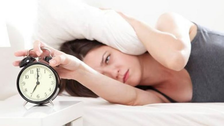 woman wakes up at seven in the morning