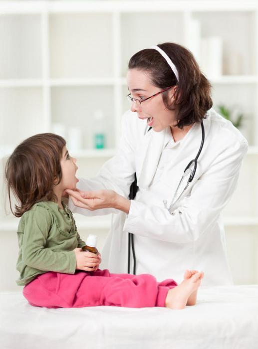 ангина у трехлетнего ребенка лечение