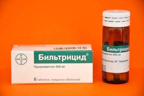 """Антигельминтный препарат """"Бильтрицид"""""""