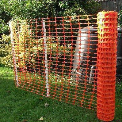 Забор из пластиковой сетки своими руками фото