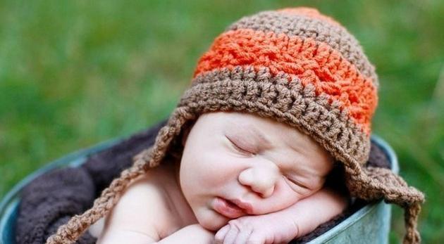 Вязание шапочек для новорожденных крючком