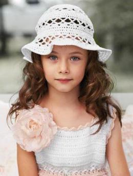 Летняя шапочка для девочки крючком - FB