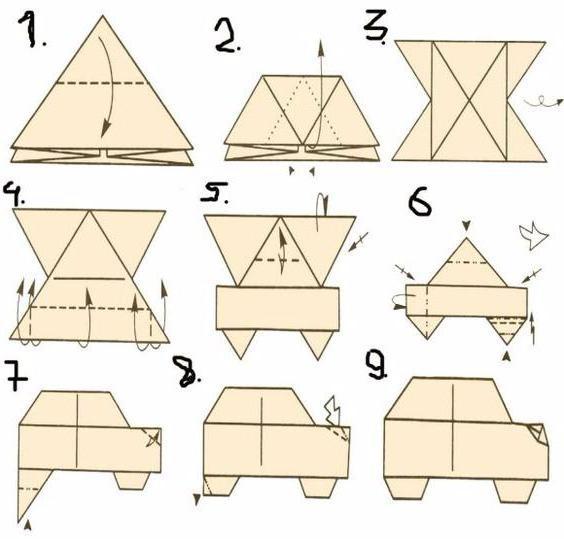 как сделать из бумаги машину своими руками оригами