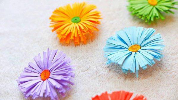 Оригинальные поделки цветок из бумаги: схемы, описание и интересные идеи