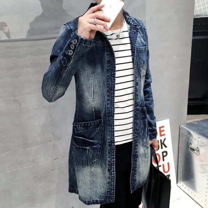 джинсовый плащ с капюшоном
