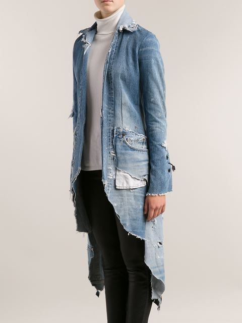 джинсовый плащ женский