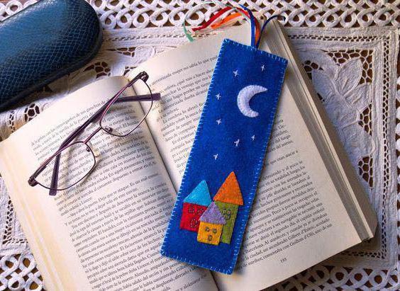 закладки из фетра для книг