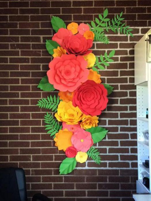 большие цветы из фоамирана мастер класс