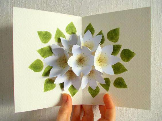 Сделать открытку с цветами внутри 78