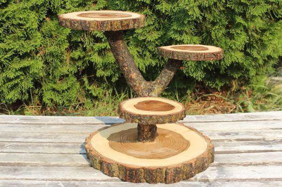 поделки из дерева для дачи идеи