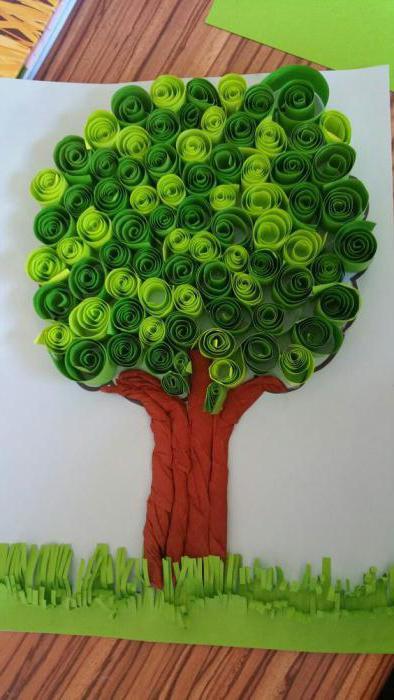 осенние деревья из бумаги и картона