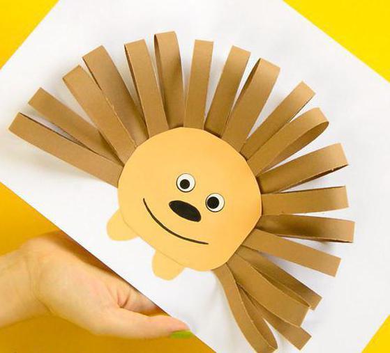 аппликация из полосок бумаги для детей
