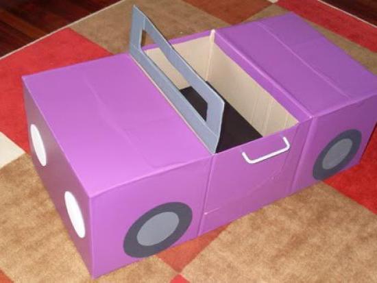 как сделать маленькую машинку из картона