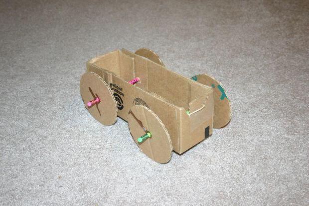 как сделать машинку из картона своими руками