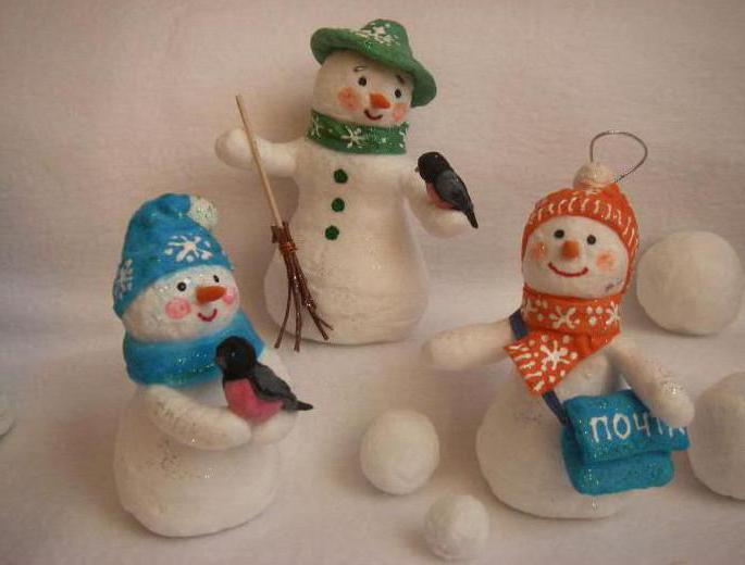 новогодние игрушки из ваты