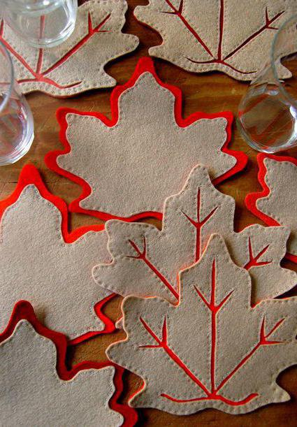 листья из фетра своими руками