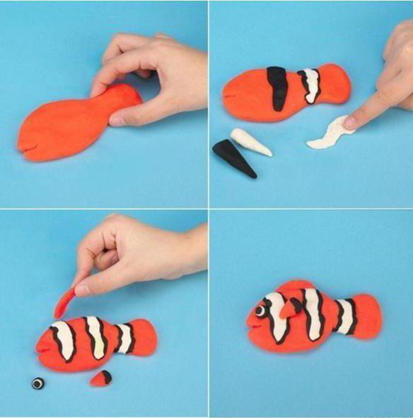 поделка из пластилина рыба