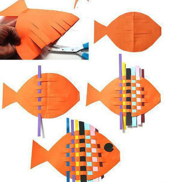 поделка из теста рыбы