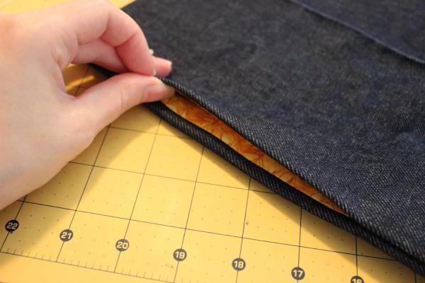 как сшить карман в боковом шве