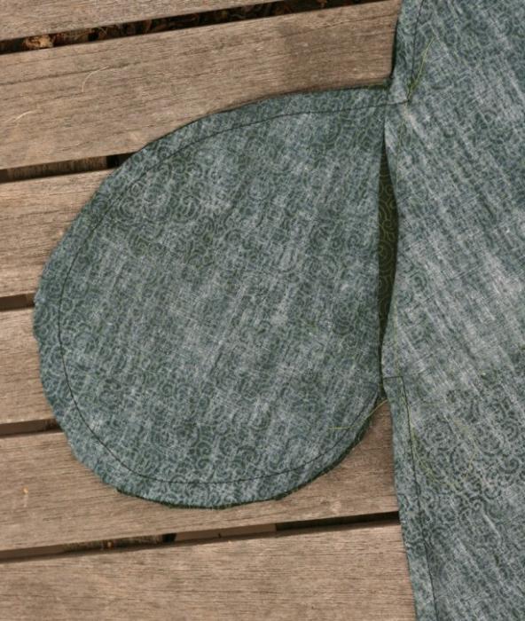 обработка кармана в боковом шве
