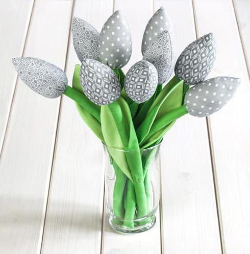мастер класс тюльпан из ткани