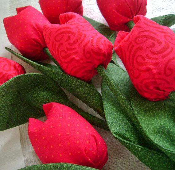 тюльпан из ткани своими руками мастер класс