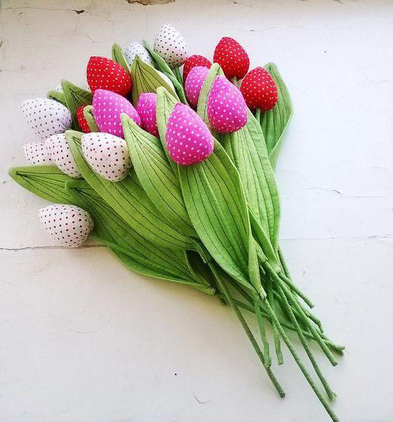 тюльпаны из ткани своими руками выкройка