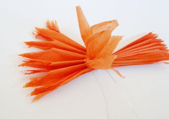 как сделать помпоны из салфеток пошаговая инструкция