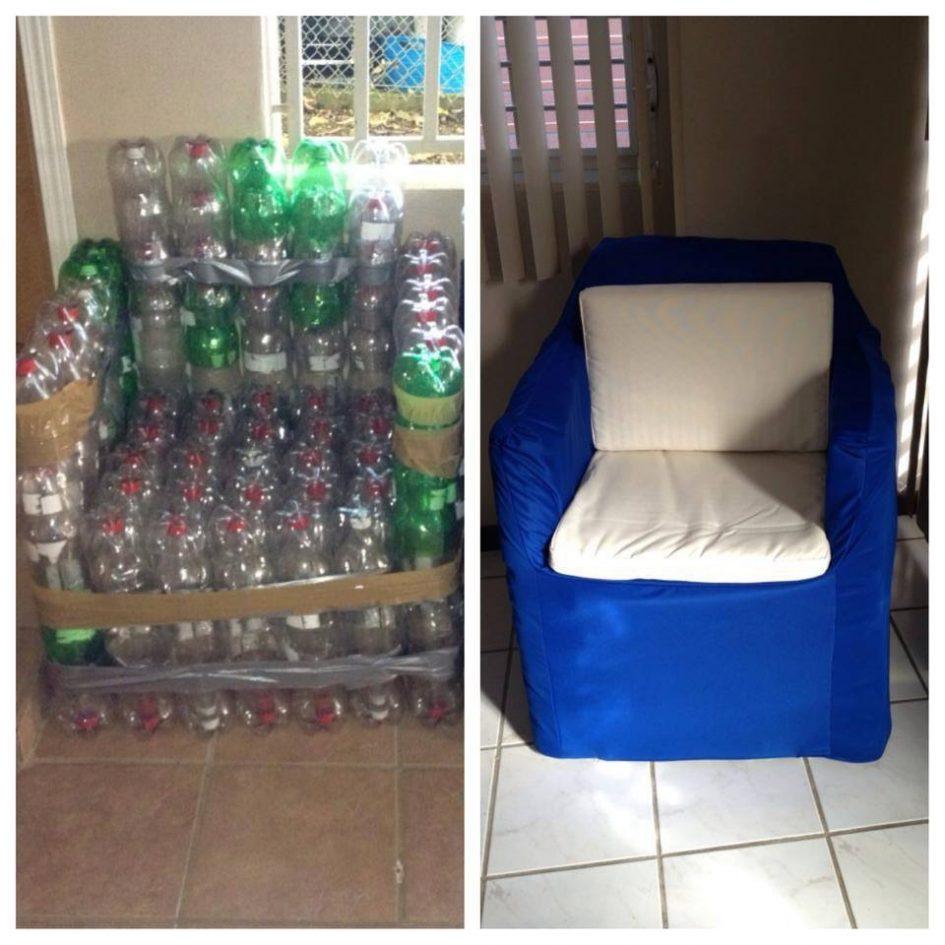 кресло из бутылок пластиковых фото клатч уже