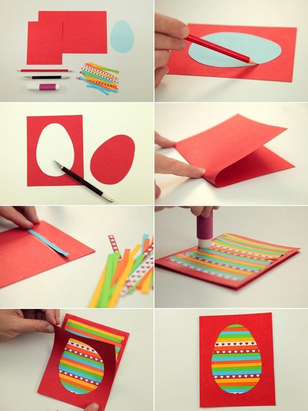 Пасхальные открытки своими руками из бумаги