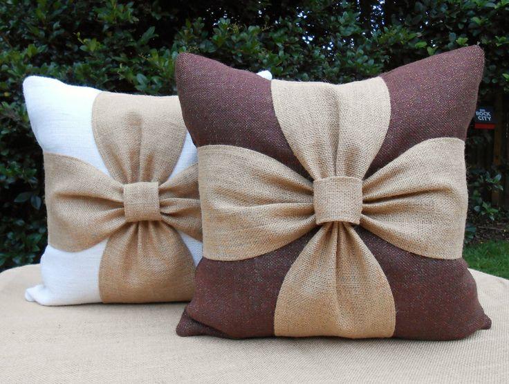 подушки с бантом