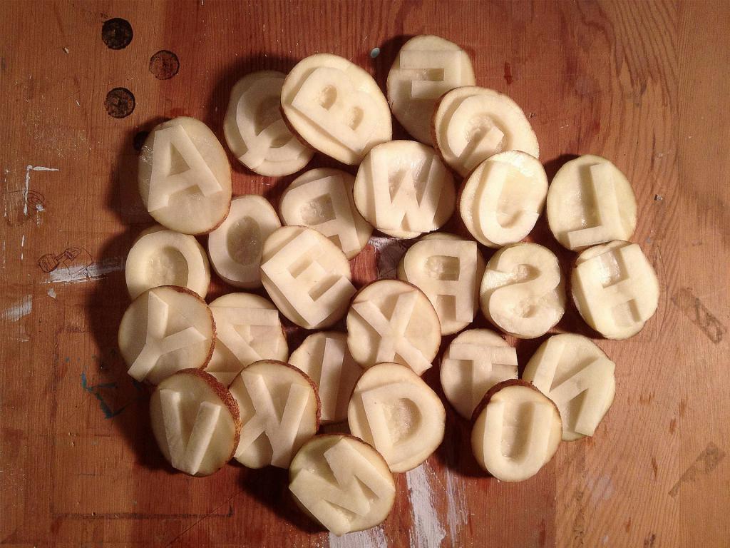 буквы из овощей