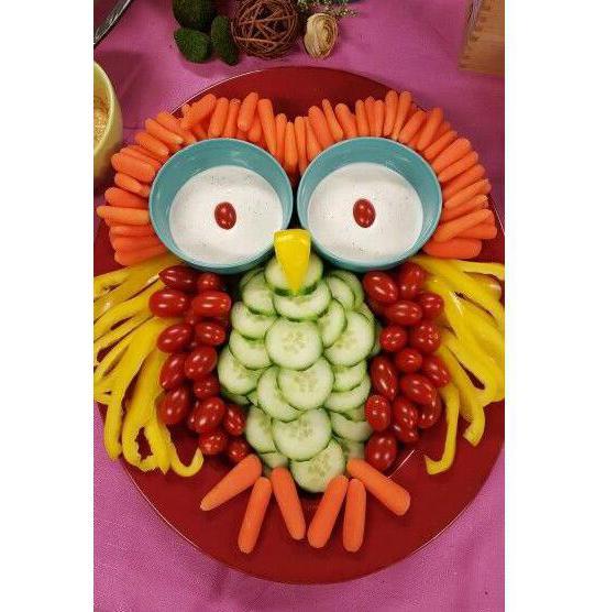 веселая сова из овощей