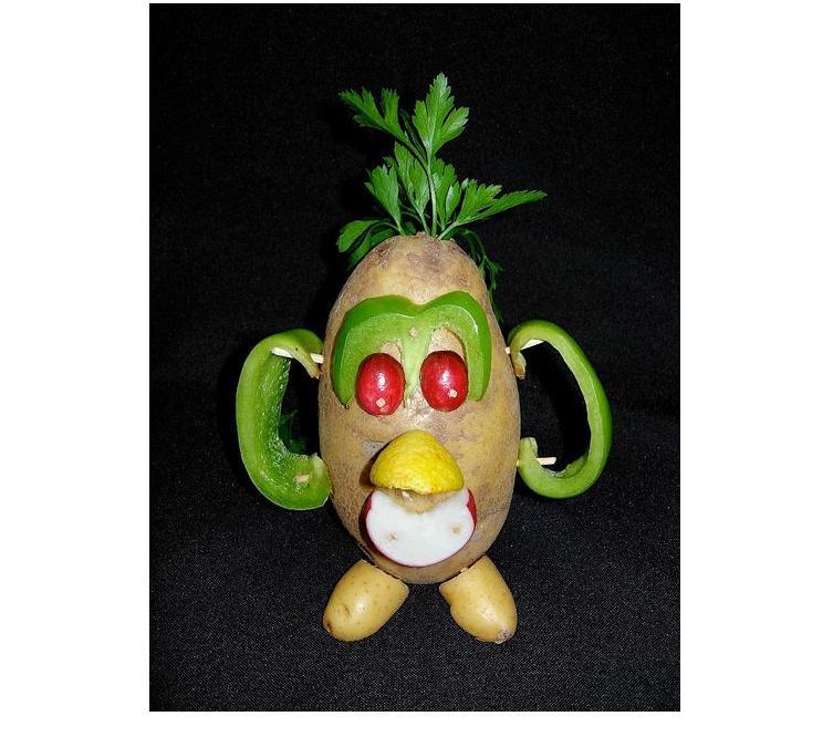 мистер картофельная голова из овощей