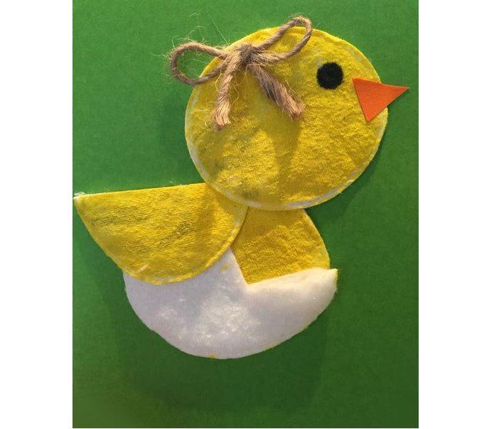 Аппликация из ватных дисков: заяц, снеговик, гусеница