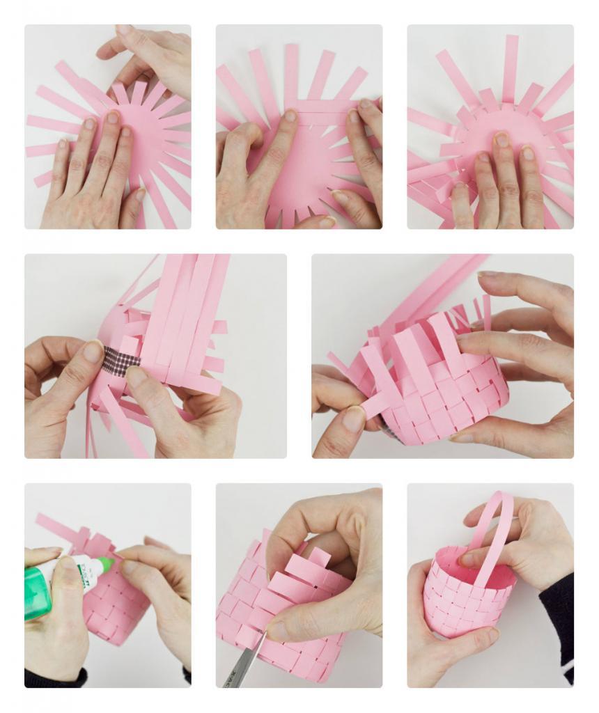Корзина из цветной бумаги своими руками пошаговая инструкция