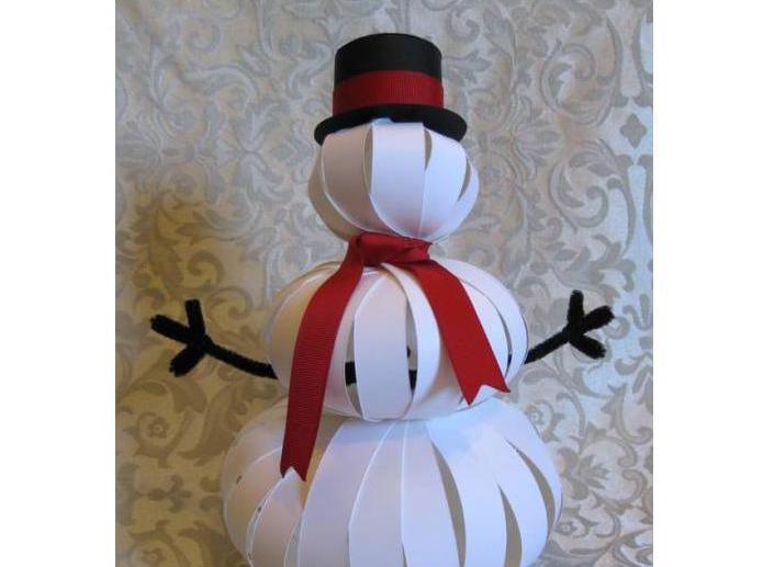 фотографии снеговиков из бумаги готовить данное блюдо