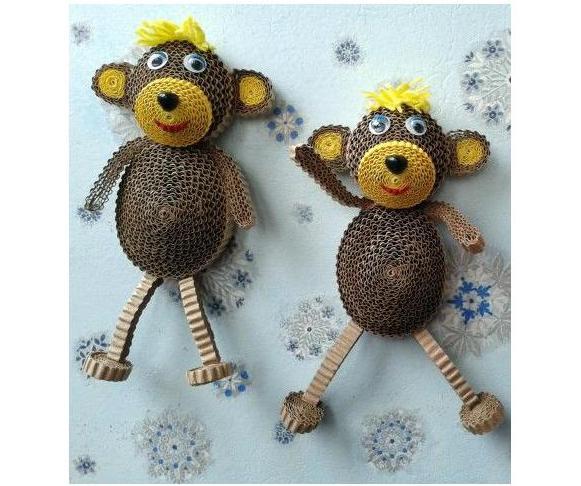 обезьяны из картона
