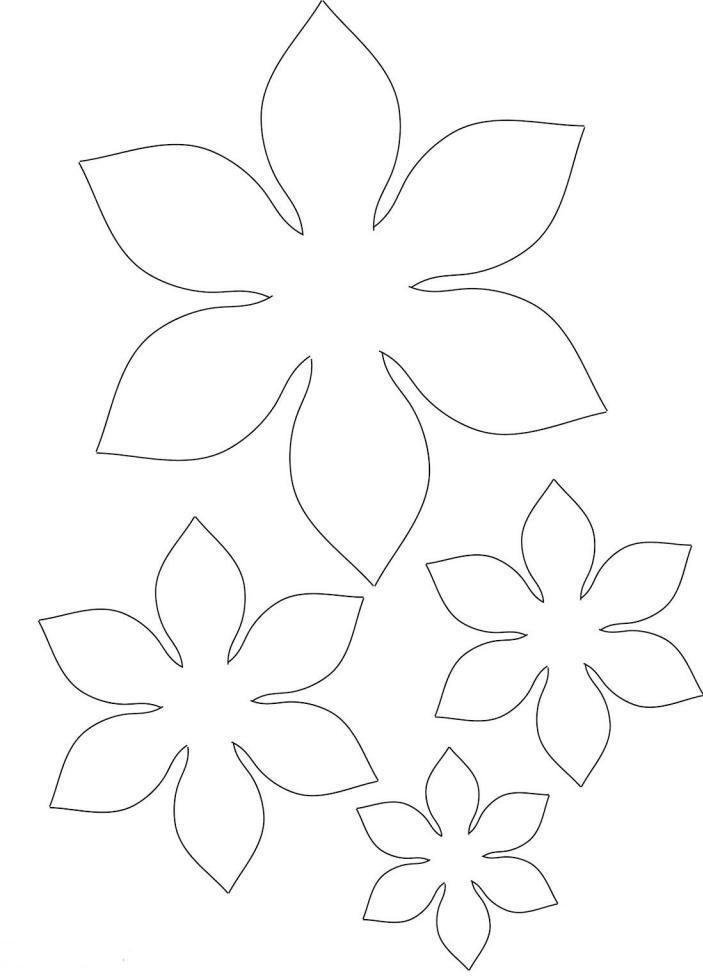 Заготовки цветов для открыток