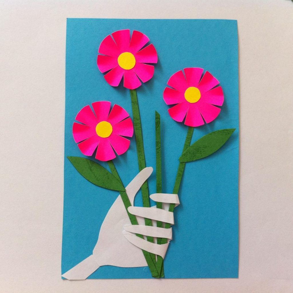 Бумажная открытка маме