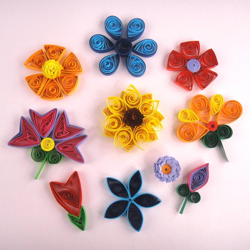 Квиллинг картинки цветы для начинающих