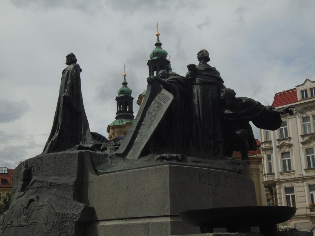 monument to Jan Hus in Prague