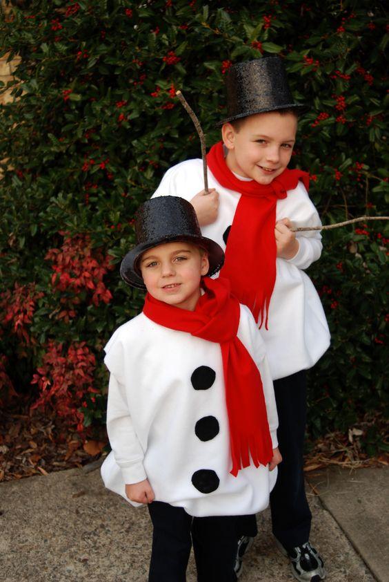 накидка для наряда снеговика