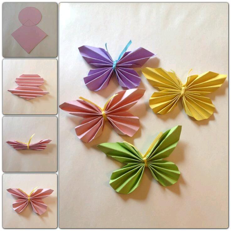 Бабочки оригами для открытки своими руками