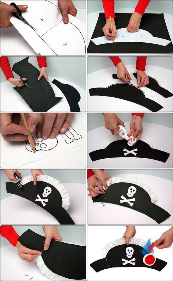 как делать шляпу пирата