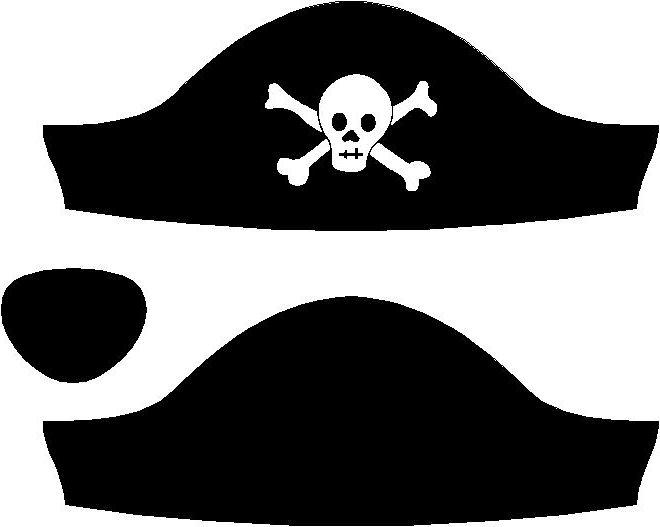 Атрибуты для пиратской вечеринки для детей шаблоны