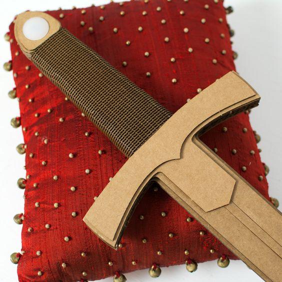 cardboard short sword