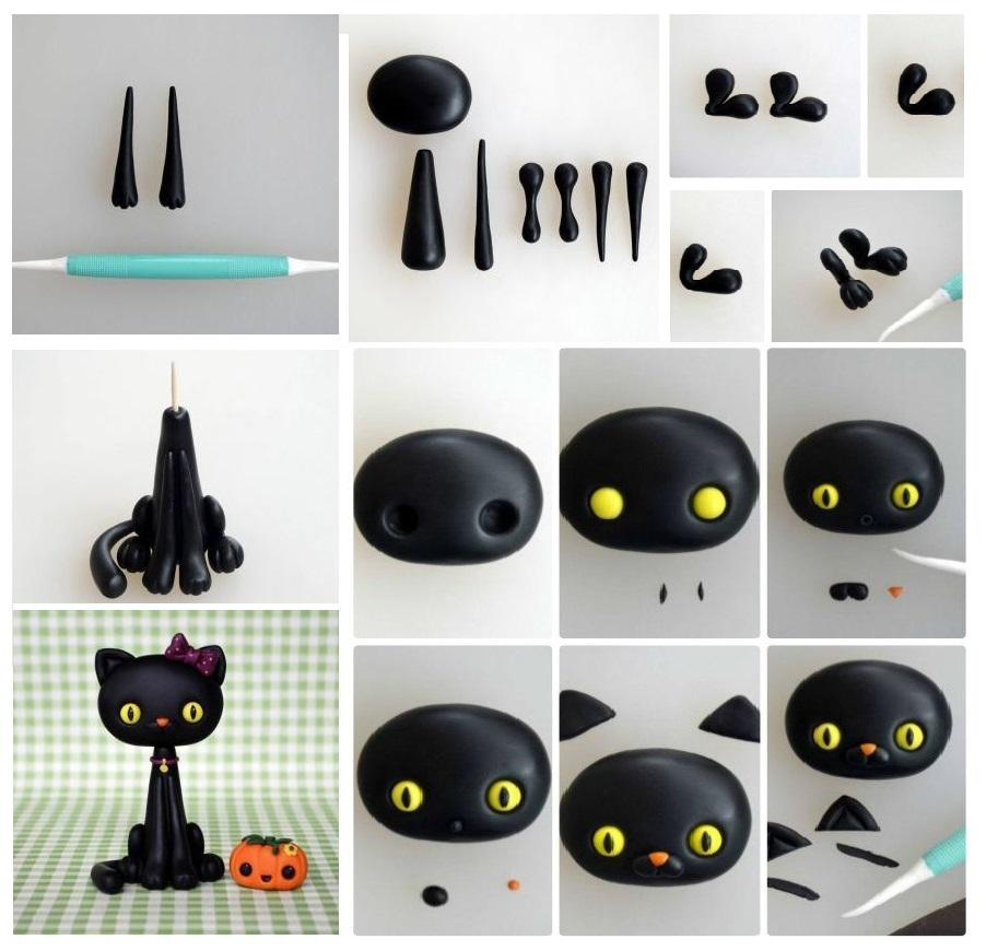 Кошка из полимерной глины - пошаговая инструкция